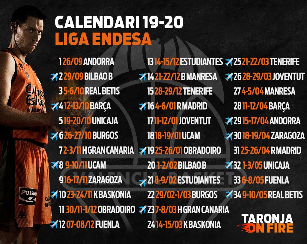 Calendario Unicaja.Valencia Basket Comenzara La Liga Endesa En La Fonteta Ante Morabanc